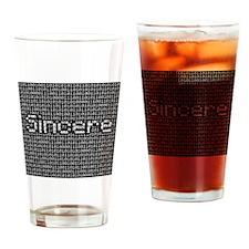 Sincere, Binary Code Drinking Glass