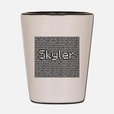 Skyler, Binary Code Shot Glass