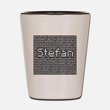 Stefan, Binary Code Shot Glass