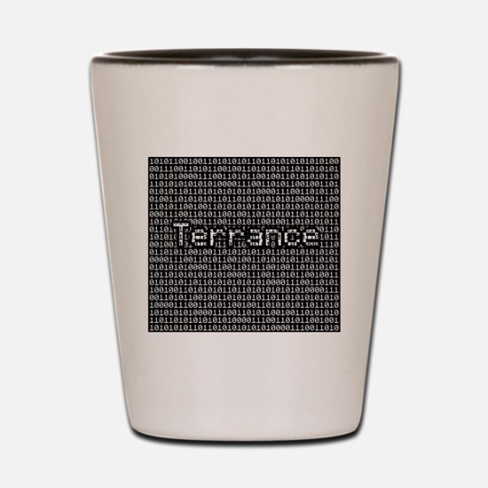 Terrance, Binary Code Shot Glass