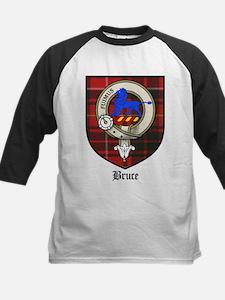 Bruce Clan Crest Tartan Kids Baseball Jersey
