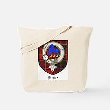 Bruce Clan Crest Tartan Tote Bag