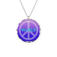 world_peace_violet Necklace