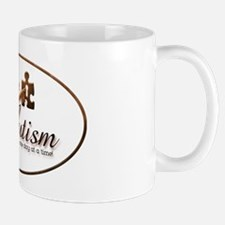 unlockingautism-AuSomeMom-outlinedoval Mug