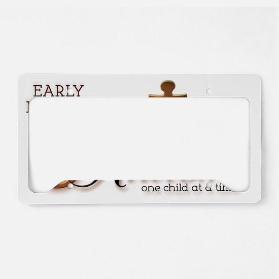 unlockingautism-EarlyInterven License Plate Holder