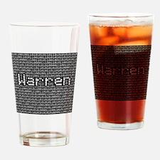 Warren, Binary Code Drinking Glass