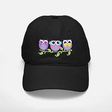 see hear speak no evil colorful owls Baseball Hat