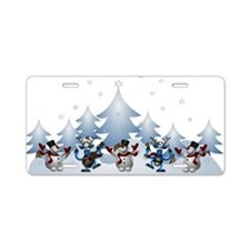 Funny Snow Dance Aluminum License Plate