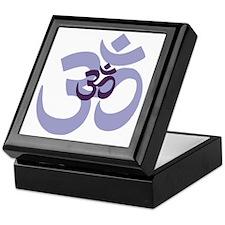 om aum chant symbol Keepsake Box