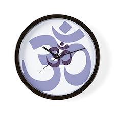 om aum chant symbol Wall Clock