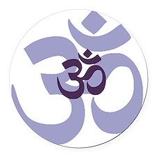 om aum chant symbol Round Car Magnet