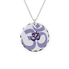 om aum chant symbol Necklace Circle Charm