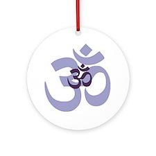 om aum chant symbol Round Ornament