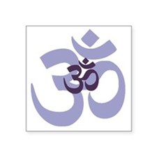 "om aum chant symbol Square Sticker 3"" x 3"""