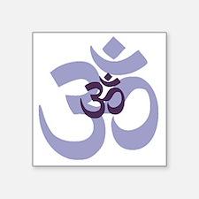 "om aum chant symbol Square Sticker 3"" x 3"""