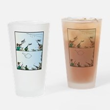 Birds giving the Finger Drinking Glass