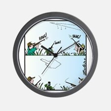 Birds giving the Finger Wall Clock