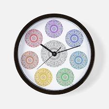 seven chakra circle Wall Clock