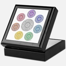 seven chakra circle Keepsake Box