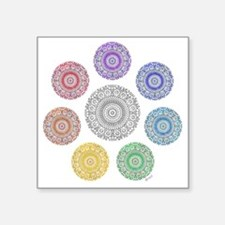 "seven chakra circle Square Sticker 3"" x 3"""
