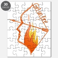 Girl on Fire Puzzle