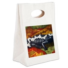 MarbledSalamander Canvas Lunch Tote
