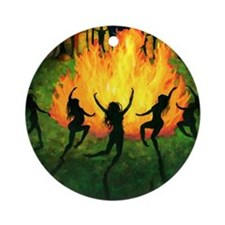 Fire Dance Round Ornament