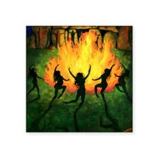 "Fire Dance Square Sticker 3"" x 3"""