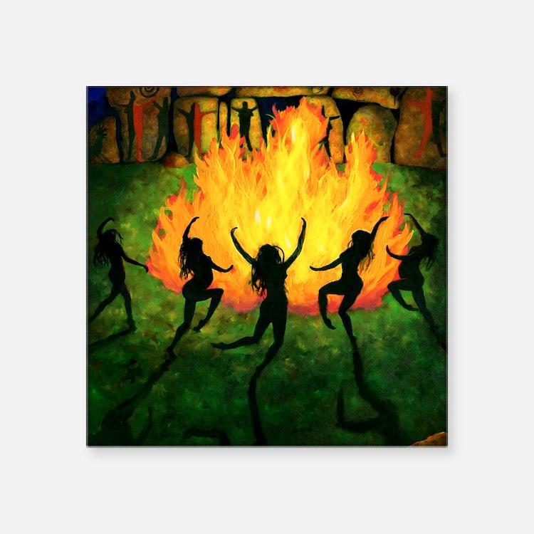 """Fire Dance Square Sticker 3"""" x 3"""""""