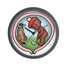 golf-womb-ds-T Wall Clock