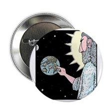 """Gods Wash me Earth sign 2.25"""" Button"""