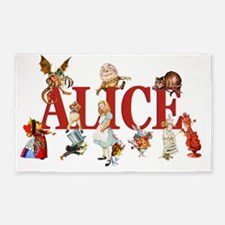 ALICE RED 3'x5' Area Rug