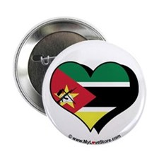 "I Love Mozambique 2.25"" Button (100 pack)"