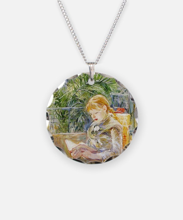 Girl Reading Necklace