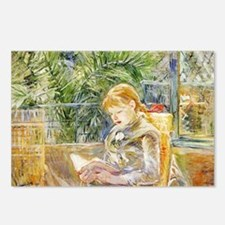 Girl Reading Postcards (Package of 8)