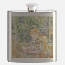 Girl Reading Flask