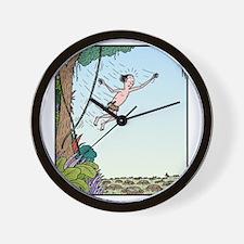 Tarzan runs out of Jungle Wall Clock