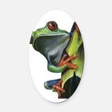 Tree Frog Oval Car Magnet
