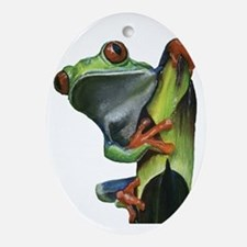 Tree Frog Oval Ornament