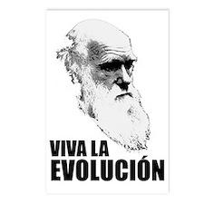 Charles Darwin Face of Ev Postcards (Package of 8)