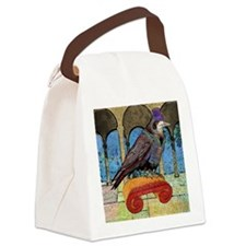 puzzleWellRaven Canvas Lunch Bag