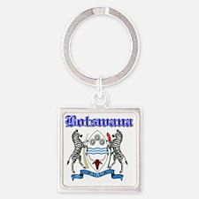 botswana Square Keychain