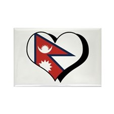 I Love Nepal Rectangle Magnet (10 pack)