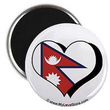 """I Love Nepal 2.25"""" Magnet (100 pack)"""