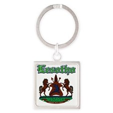 lesotho Square Keychain