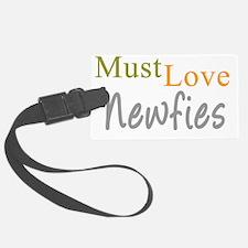 mustlovenewfies_black Luggage Tag