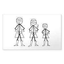 Superhero Family Decal