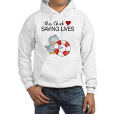 this chick loves saving lives Hoodie