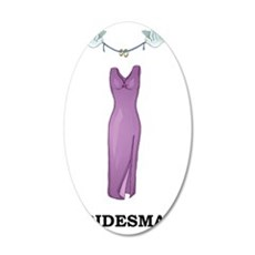 Wedding Party Bridesmaid 35x21 Oval Wall Decal