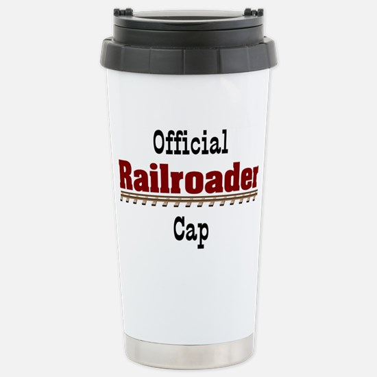 Official Railroader Cap Stainless Steel Travel Mug